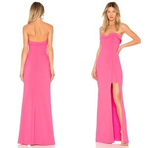 Likely Ella Gown in Pink Flambe Maxi Dress Size 0